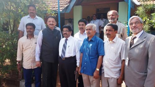 V.C. with  management member